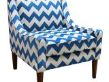 Pacific Blue Accent Chair Pacific Accent Chair In Electric Blue Chevron