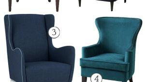 Pacific Blue Accent Chair Wing Chair Love Affair