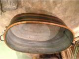 Painted Zinc Bathtub French Custom Painted Zinc Tub at 1stdibs
