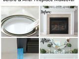 Painting Bathtub Insert How to Paint Tile Easy Fireplace Paint Makeover