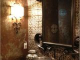 Painting Bathtub Walls Mix Of Metallic Paints On Spanish Inspired Bath Walls