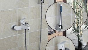 Painting Plastic Bathtub Kemaidi White Painting Bathroom Wall Mounted Shower Spray