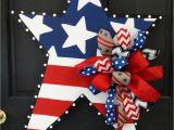 Patriotic Christmas Decorations Yard Patriotic Star Wooden Door Hanger Door Decoration Pinterest