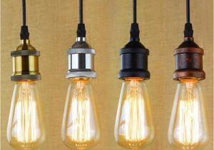 Pendant Lights that Screw Into socket Loft Hanging Lamp socket Vintage Edison Pendant Lights Retro Black