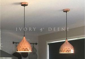 Pendant Lights that Screw Into socket nora Pendant Light Hammered Copper Dove Grey Swedish Kitchens