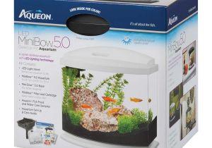 Petco Aquarium Light Aqueon Minibow Led Desktop Fish Aquarium Kit In White Petco