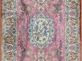 Pink and Blue Aztec Rug Pink Persian Rug oriental Turkish Carpet Silk Rug Tabriz Rugs Hereke