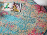 Pink Aztec area Rug Blue 6 X 6 Palazzo Round Rug area Rugs Esalerugs Design My