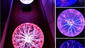 Plasma Ball Lava Lamp Sphere Lightning Lamp Light Party Black Base Glass Plasma Ball