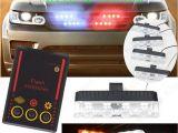 Police Interior Light Bars Red Blue 4x 4 Led Dc 12v Police Car Van Truck Warning Flashing