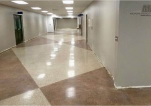 Polish Tile Floors Concrete Polish with Grout Lines Convention Center Design