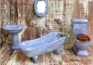 Porcelain Bathtubs for Sale 1 12 Dollhouse Miniature Porcelain Bathroom Furniture Set