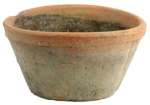 Porcelain Flower Pots Homart Rustic Terra Cotta Oval Pot Large Antique Red 1 Count