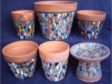 Porcelain Flower Pots Mosaic Pots Bird Bath Explore Mosaics and Craft
