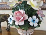 Porcelain Flowers Antique Capodimonte Style Antique Italian Porcelain