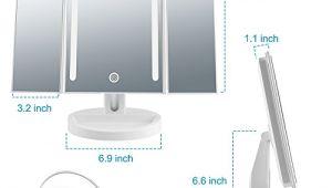 Portable Bathroom Vanity Mirrors Herwiss Lighted Makeup Mirror Portable Bathroom Vanity