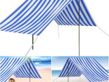 Portable Bathtub Camping 330x180cm Portable Beach Tent Uv Sun Shade Shelter Canopy Outdoor