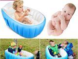 Portable Bathtub for toddler Baby Infant Inflatable Bath Tub Seat Mommy Helper Kid