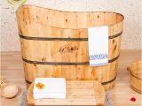 Portable Bathtub Ideas Cedar Wood Bath Barrel Tub Bath Bucket Spa Bath Bucket