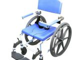"""Portable Bathtub On Wheels Self Propelled Rolling Mode Shower Chair 18"""" Wide Seat"""