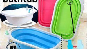 Portable Bathtubs for toddlers Qoo10 Foldable Bathtub Baby & Maternity