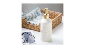 Portable Ceramic Bathtub soap Bottle Shampoo Conditioner Ceramic Dispenser Bath