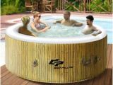 Portable Heated Bathtub Spa 4 Persons Portable Heated Round Bubble Massage Spa