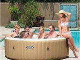 Portable Heated Bathtub Spa Intex Inflatable Pure Spa 6 Person Portable Heated Bubble