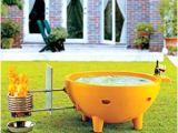 Portable Tin Bathtub Amazon Alfi Brand Firehottub Ye Round Fire Burning