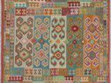 Pottery Barn Rugs Wool Kilim Roshni Rust Wool Rug 6 6×8 3 Size Green Size 6 X 9