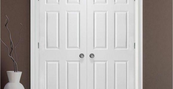 Prehung Interior Closet Doors Masonite 48 In X 80 In Textured 6 Panel Hollow Core Primed