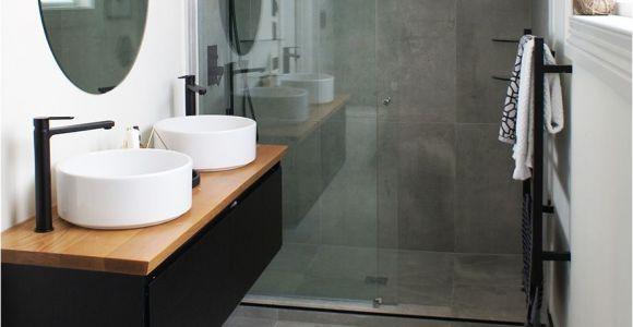 Premier Decor Tile Cat Jeremy S Ensuite Uses the Cementia Grey 75 Tile Makes the