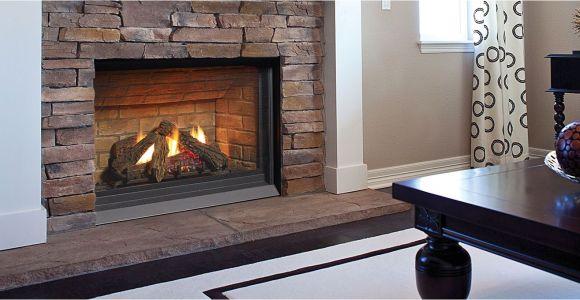 Propane Fireplace Repair Interior Gas Brick Wall Around Painted