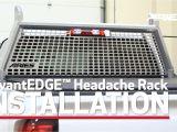 Protech Headache Rack Mesh Aries Advantedgea Install Headache Rack 1110204 On Chevy Silverado