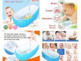 Quality Baby Bathtub Cho Cho Blue Inflatable Baby Bath Tub with Pump