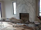 Quartz Tile Fireplace Surround Contemporary Slab Stone Fireplace Calacutta Carrara Marble Book