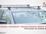Rage Powersports Roof Rack Cross Bars Universal Fit Telescoping Roof Rails Youtube