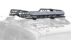 Rage Roof Rack Apex Deluxe Steel Roof Cargo Basket with Wind Fairing 47 1 4 L X