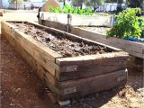 Railroad Tie Bench Building Raised Garden Beds with Railroad Ties In Meg39s Garden A