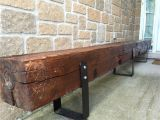 Railroad Tie Bench Old Hand Hewn Barn Beam Bench for the Home Pinterest Beams