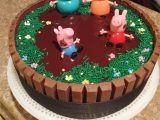 Razorback Cake Decorations Peppa Pig Birthday Cake Peppa Pig Birthday Pinterest Peppa Pig