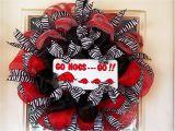 Razorback Decorating Ideas Arkansas Razorback Wreath Made with Deco Mesh Zebra Ribbon Go Hogs