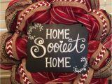 Razorback Decorating Ideas Arkansas Razorbacks Deco Mesh Wreath that I Made My Mom Made the
