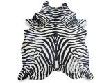 Real Zebra Fur Rug Zebra Black Stripes On Off White Cowhide Rug White Cowhide Rug and