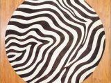 Real Zebra Rug Round Zebra Rug Rugs Gallery Pinterest Rounding