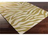 Real Zebra Rugs for Sale Hand Hooked Zebra Indoor Outdoor Polypropylene Rug 9 X 12 Green