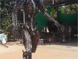 Recycled Metal Sculptures Garden Art Alien Statue Sculpture Lifesize Scrap Metal Art Metal Wall Art