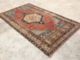 Red Black and Beige area Rugs Red Blue Rug 4 6 X7 8 Feet Hand Made Rug Turkish Rug Made with