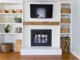 Refurbished Brick Fireplaces Built In Shelves Around Shallow Depth Brick Fireplace 1811 Living