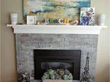 Refurbished Brick Fireplaces Puddles Tea White Wash Brick Fireplace Makeover Beach Cottage